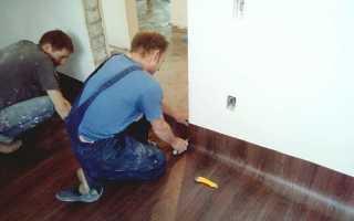 Линолеум на бетонный пол: способы укладки