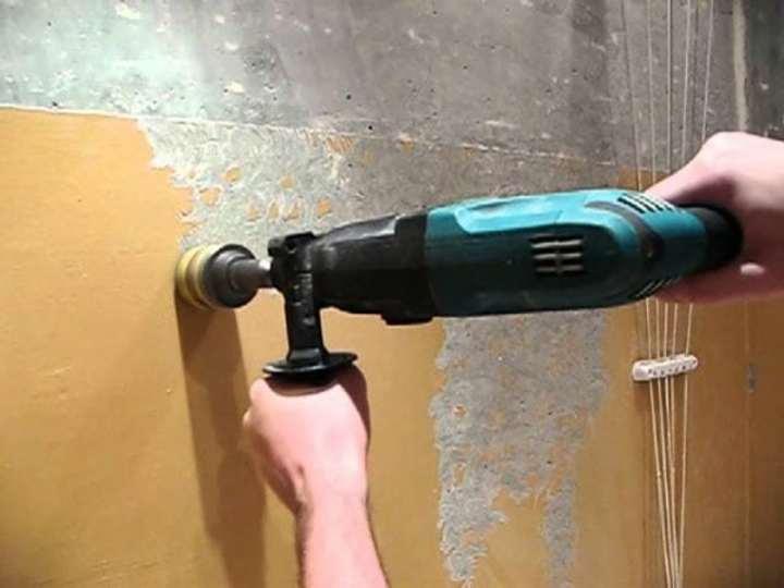Подготовка стен механическим методом