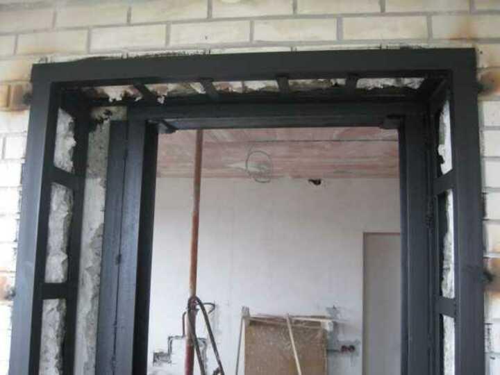 Проемы в бетонных стенах укрепление