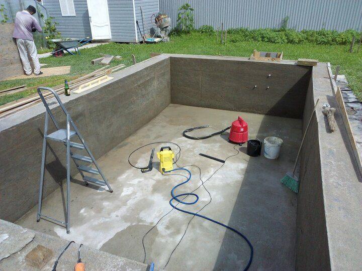 бетонный бассейн снятая опалубка