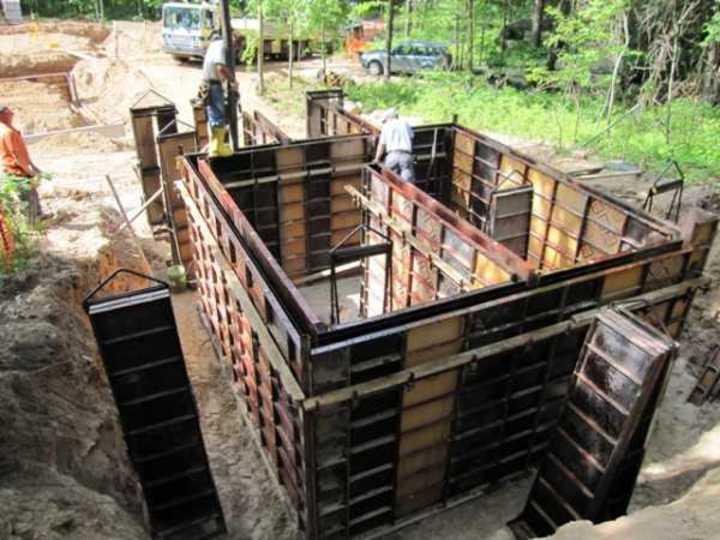 формирование стен в погребе