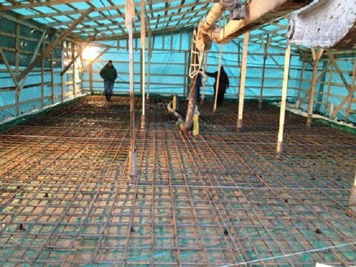 сооруженный тепляк для прогрева бетона