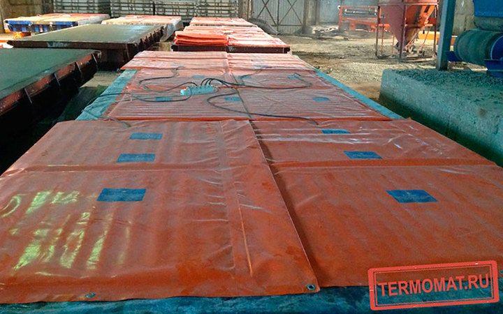 использование термоматов при зимнем бетонировании