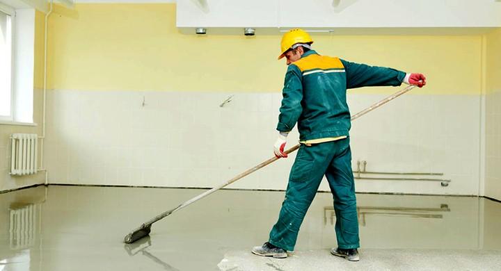 окрашивание бетонного пола износостойкой краской