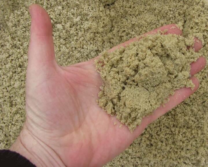 мытый песок для приготовления бетонной смеси