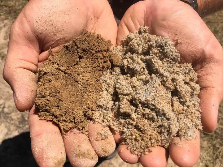 речной и карьерный песок для приготовления бетонной смеси